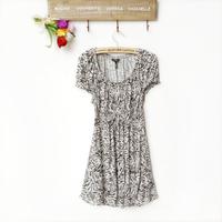 Women's slim artificial cotton one-piece dress three-color