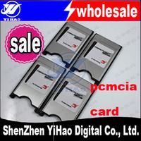 free shipping 10pcs/lot CF compactFlash Card to PCMCIA Reader Adapter Converter Card reader