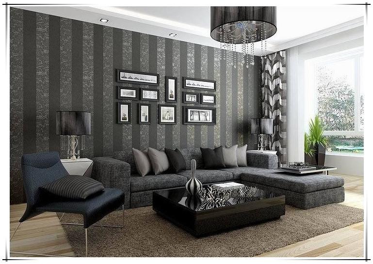 modern 3d wallpaper walls tv unit texture black background living room