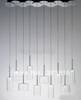 New Modern Axo Light Spillray SP 10 Grey Orange Crystal Red Glass Pendant Light Living Room Light