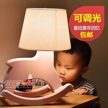 Cottage child cartoon trojan table lamp dimmer bedroom bedside lamp