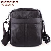 2014 male genuine leather messenger bag shoulder bag male small business casual cowhide man bag messenger bag