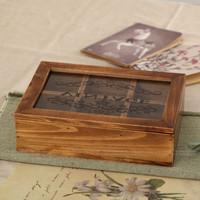 Zakka storage box wood jewelry box belt glass box vintage retro finishing japanese style