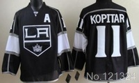 cheap Los Angeles Kings Youth Kids jersey  #11 Anze Kopitar black Ice Hockey Jersey Embroidery logo sewn on