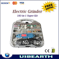 Hot!! Electronic Grinder 183-in-1 kit , Variable Speed Angle Grinder Machine