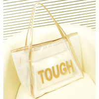 New arrival 2014 transparent bag beach picture package one shoulder bag women's hand plastic bags