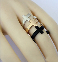 Fashion open cross rings for women Punk style jewelry min. order $10 free shipping HeHuanJZ036