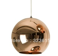 Modern Artistic Tom Dixon Bronze Copper Shade Gold  Glass Pendant Light Living Room Dining Room Light Dia 40cm
