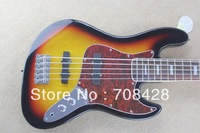 2014 new bass free shipping bass guitar 5 strings jazz bass rosewood  fingerboard Vintage Sunburst wholesale jazz bass