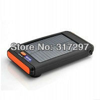 Free Shipping! 1pc/lot Portable 12000mah Solar Battery Charger for Mobile Phone/Blackberry/iPhone/iPad/Laptop/Notebook