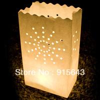 HOT SALE !!! 50PCS INDOOR OUTDOOR CANDLE SAFE LANTERN PAPER TEALIGHT GARDEN BAGS TEA LIGHT WEDDING