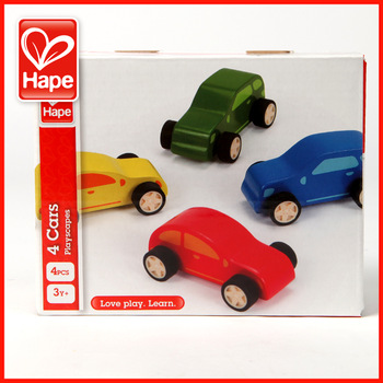 Hape toy car combination 0-1 year old infant wool wooden puzzle