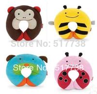 Free Shipping Kids U Shape Car Rest Pillow Children Neck Cartoon Zoo Travel Neckrest