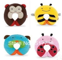 Free Shipping Kids U Shape Car Rest Pillow Children Neck Cartoon Zoo Travel Neckrest