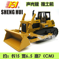 In alloy engineering car model toy plain single drum vibration bulldozer forkfuls