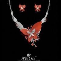 новые моды бренд женщин большой красный Бижутерия набор, ns45