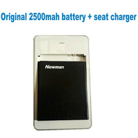 "FreeShipping new 2500mah battery + seat charger for 4.7"" newman n2 quad core smart phone"