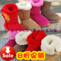 12 autumn and winter lj child snow boots male female child cotton-padded shoes baby warm shoes snopy