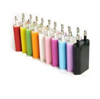 High quality new 10pcs/lot EU Plug 5V 1A AC Power USB Wall Charger For iPhone 4 4S 3GS iPod