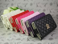 Leather Wristlet Case Cover Purse Card Wallet FOR iPhone 5 G 4 4S 3G S