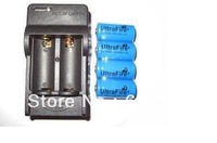 4 Pcs Brand New Ultrafire 16340 1000mAh 3.6V CR123A Rechargeable Batteries Plus Charger Free Shipping
