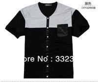 High quality men's t-shirt Fashion /Casual t-shirt men's short-sleeve T-shirt Loose T-shirt , 5 sizes XXXXXXXL, Free Shopping