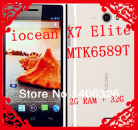 Super Deal!iocean X7 Elite Smartphone MTK6589T Quad Core 2G RAM + 32G ROM 5.0 Inch IPS FHD Screen Android 4.2