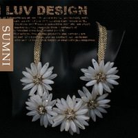 2013 new  fashion brand flower gold multi-layer short design choker necklace costume jewelry for women 1pc free shipping