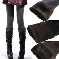 Female autumn and winter double layer thickening plus size ball plus velvet boot cut jeans warm velvet legging pants