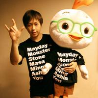 - mayday stayreal T-shirt personality loose short-sleeve