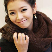 Muffler scarf female winter knitted yarn scarf female collars autumn and winter male scarf pullover