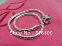 8'' 20cm women men bracelet  PAN chain new wholesale free shipping 925 sterling silver fashion bangle fit charms beads