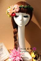Hot sale Mannequin Display Foam Female Mannequin Head Black For Hat,Hair,Headset,Microphone Display