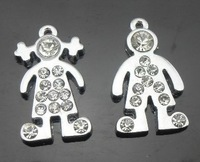 100pcs Boy & Girl  hang charms Zinc alloy fit necklace cell phone charms Other decorative accessories