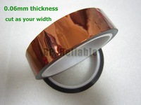 Free Shipping, 1x 20mm*33M *0.06mm Polyimide  High Temperature Resist Insulate Film Tape for Mobilephone Repair, PCB mask, LED