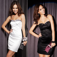 2013 summer women's noble beaded slim tube top one-piece dress tube top dress