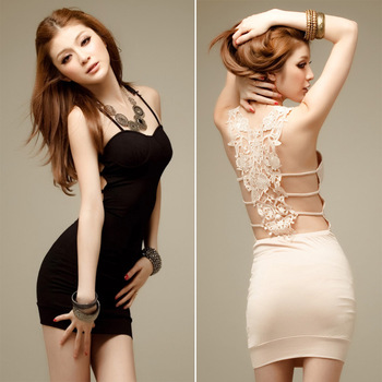 2013 spring and summer women's racerback sexy tube top tight hip slim one-piece dress suspender skirt cutout