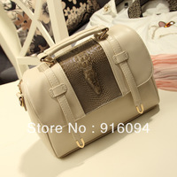 2013 vintage fashion big bag crocodile pattern fashion handbag women's messenger bag female bags free shipping