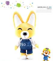 Korea PORORO Little Penguin plush toys, dolls, the fox (Eddy) 34 * 20 * 16cm gift for kids safe for children