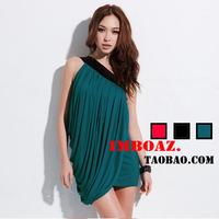 Imboaz oblique sexy elegant slim one-piece dress summer one shoulder formal dress bridesmaid dress