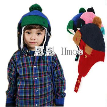 Bonnet polar fleece fabric snow cap baby ear protector cap lei feng cap autumn and winter hat child hat