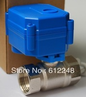 "stainless steel motorized ball valve,electric ball valve 1/2"" DN15, 2 way,CR01/CR05,12v"