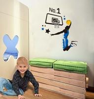 Jordon  Wall  Decal Decor  Stickers Boy  Room  Nursery Removable Vinyl  Basketball  Murals Art