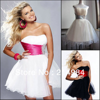 Free Shipping 2013 Stock Ladies' Fashion Mini Organza Party Prom Ball Gowns Short  Cocktail Dress Night Club Wear
