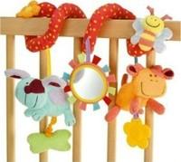 Free shipping MIC Elc multifunctional baby bed hanging car hanging newborn toy, Baby Rattles 3pcs/lot