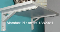 "1 Pair 14"" Folding Shelf Bracket White Paint  RV Shelf"
