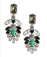Crystal encrusted earrings for women gorgeous! statement earrings for women jewelry