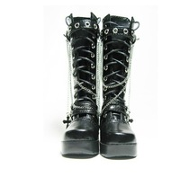 Free shipping 1/4 high quality black bjd doll boots