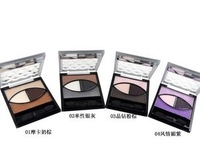 Big eyes black four color eye shadow earth color nude makeup purple charming eye shadow