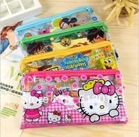 Cartoon Stationery Set Transparent Pencil Set Children Stationery Student Gift Bag Pencil + pencil + sharpener + ruler + eraser